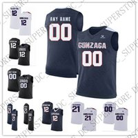 Custom Gonzaga Bulldogs College Basketball Stitched Any Name...