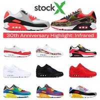 Stock X 90 running shoes for men infrared VIOTECH University...