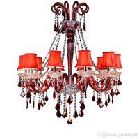 Lampadario di cristallo di alta qualità K9 lampadario di cristallo moderna decorazione domestica moderna di vetro Apparecchio di illuminazione di stile europeo di lusso