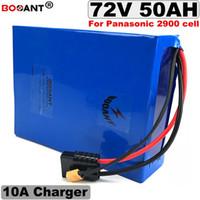 20 batteries de vélo électrique 72V 50AH de série 72V 5000W batterie lithium-ion au lithium pour LG, Panasonic 18650 + 10A chargeur 100A BMS
