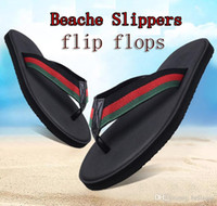 2018 NEW Europe Brand designer slippers striped sandals Non-...