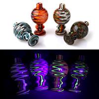 UV Colore Wig Wag Glass Bubble Carb Protezione Con 26 millimetri OD Glass Bubble Cap Per quarzo Banger Nails