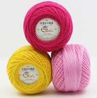10balls=500g 3#Lace 100% Cotton Yarn for Crocheting Fine Com...
