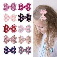 Bébés filles Love Heart Glitter Barrettes enfants pailletée amour bowknot cheveux clip Barrettes Princesse Barrettes Headress Accessoires cheveux A41003