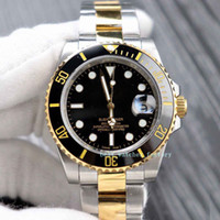 الفاخرة للرجال + صندوق 116613 16613 آسيا 2813 الأسود الهاتفي السيراميك الفولاذ المقاوم للصدأ التلقائية الميكانيكية الدائم صلب الذهب كريستال الساعات الرياضية