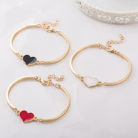 New Korean Fashion Red Black Love Alloy Adjustable Bangles O...