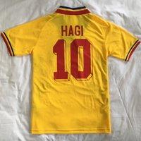 أعلى 1994 الرجعية رومانيا لكرة القدم الفانيلة هاجي 10 raducioi 9 popescu 6 خمر المنزل بعيدا تايلاند جودة قميص كرة القدم التطريز دي camiseta فوتبول جيرسي حجم S-XXL