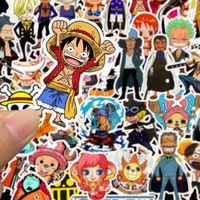 One Piece Anime Çıkartma Paketi Bavul Kaykay Laptop Scrapbook Karikatür plakası Oyuncak İçin Çocuk Komik Duvar yazısı Çocuk Çıkartma
