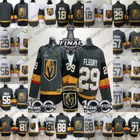 Vegas Cavaleiros de Ouro Stanley Cup Jersey 29 Marc-André Fleury 67 Max Pacioretty 71 William Karlsson 81 Marchessault 88 Nate Schmidt 61 Pedra