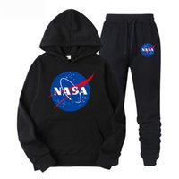 NASA Mens Designer Sports Tracksuits 2 Pieces Pants Letter P...