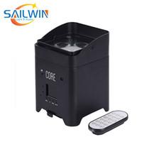 Sailwin Sahne LED Option 4 * 18 W 6in1 RGBAW + UV Lityum Pil Powered WiFi Kablosuz Mobil Etkinlik Partisi için LED Par Işık
