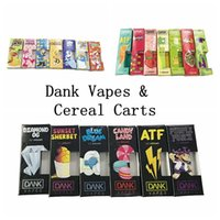 DANK Vape Cartridges Packaging Oil 510 Cartridge Flat Round ...