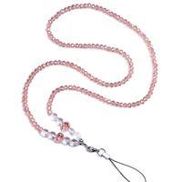 Kristall Handy Lanyard Halsband Niedlich Für Kartenschlüssel Keycord Nekband Keychain Halskette Halter Porta