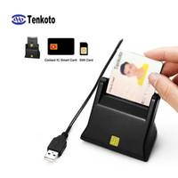 قارئ بطاقة رقاقة USB الذكية Contact ic العديد من القارئ SIM متعددة مع برنامج قارئ بطاقة IC ISO7816 IC