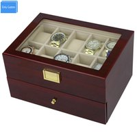 Send by DHL Luxury 20 Slots 2 Layer Rose Wood Glossy Lacquer...