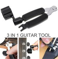 3 en 1 Guitar Peg String Winder + String Pin Puller + String Cutter Juego de herramientas para guitarra Accesorios multifunción para guitarra