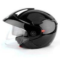 Accesorios de la motocicleta Casco de protección al aire libre universal de doble visera Seguridad Moda Montar con los anteojos medio abierta contra la niebla