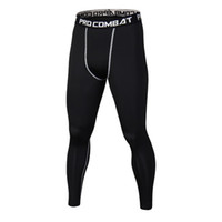 2017 Hommes Compression SportsPants Collants Secs Fit Base Couche Fitness MMA Porter Bodybuilding Skinny Leggings