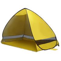 Tende semplici Tende all'aperto Tende da campeggio per 2-3 persone Tenda di protezione UV per il viaggio in spiaggia Prato 30 PCS Spedizione veloce TS001