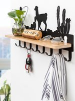 Multifunctional hook wall hanging coat hook creative porch s...