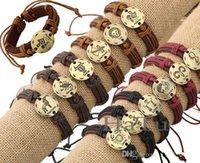 Douze Constellations Bracelets En Cuir Bracelet En Cuir Zodiac Bracelet En Cuir Pour Hommes KKA2576