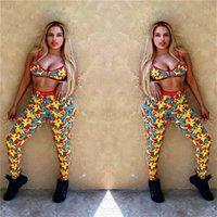 2020 Mulheres 2pcs Cortar Swimwear Vest alças Bra + Pants Two Piece Swimwear projeta Verão Treino Tankini Biquinis Beachwear nova D52101