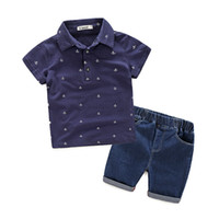 good quality 2019 boys summer clothing sets children clothin...