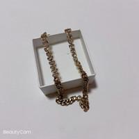 Buoni articoli collana D simbolo della moda classica con confezione regalo, per la raccolta signore accessori gioielli di design di moda catena di blocco di lusso