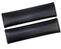 2pcs coiffure de sécurité de sécurité universelle ceinture de sécurité couvercle de la fibre de carbone de voiture décorative coussinet de protection à la manche