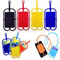 신용 ID 가방 실리콘 lanyards 목 목걸이 슬링 카드 홀더 스트랩 아이폰 x 8 유니버설 모바일 휴대 전화