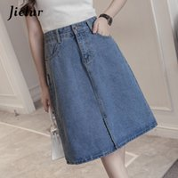 Jielur 2019 Kpop Oversized Summer Female A- line Skirts Solid...