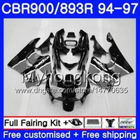 Grijs zwart glanzend lichaam voor HONDA CBR893 RR CBR900RR CBR893RR 94 95 96 97 260HM.15 CBR 893 CBR900 RR CBR 893RR 1994 1995 1996 1997 Fairing Kit