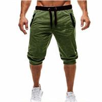 Mens Baggy Jogger Casual Slim Harem Shorts Doux 3/4 Pantalons Mode Nouvelle Marque avec Logo Hommes Pantalons De Survêtement D'été Confortable Homme Shorts M-3XL