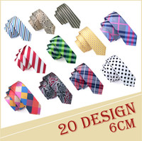Man Fashion Accessories 20 Style Jacquard Woven 6cm Slim Tie...