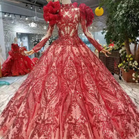 2019 New Fashion Red Evening Dresses With Detachable Shoulde...