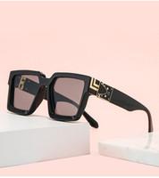 Assicurazione della qualità Nuovi Occhiali da sole europei e americani con cornici quadrati Millionaire Moda Sunglasses Moda Abbigliamento maschile Specchio di moda