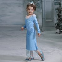 Retail 2020 girls snow queen princess dress with pant 2pcs s...