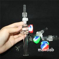 Wasserhaare Mini Nektar Collector Quarz Nagel mit 10mm 14mm Filter Tips Tester Rohrglas Wasserleitungen 5ml Silikonglas DAB Stroh
