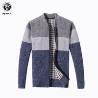 RUELK 2018 Горячие Продажа Brand-одежда Весна Кардиган мужской моды качества хлопка свитера мужчин вскользь Navy Redwine Mens SweatersMX190926