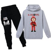 La Casa De Papel Mask Kids Hoodies T Shirt Money Heist Vinta...