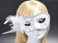 Flat-headed Painted Mask Prins Mask Lady Half Gezicht Nieuwe Groothandel Multicolored Optioneel Bloemmasker 20pcs / lot W1227