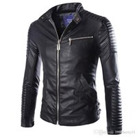 Autumn Winter Luxury Pu Leather Jacket for Men Long Sleeve M...