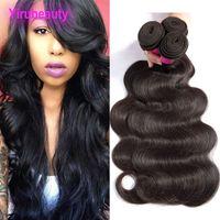 Бразильские волосы девственницы Малайзийские индийские перуанские человеческие волосы волосы волна 10 шт. Оптовая 10 шт. Оптовая 10 штук один набор 10 пучков волос уцинков
