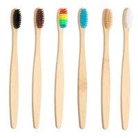 Бамбуковые ручки зубной щетки производитель оптовой Экологически чистый BPA свободный собственный логотип частный ярлык с футляром биоразлагаемые