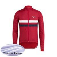 Rapha Team Hombre Invierno Termal Fleece Ciclismo Jersey Manga Larga Camisas de carreras MTB Bicicleta Tops Bicicleta Uniforme Outdoor Sportswear S21050751