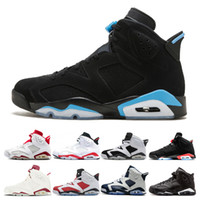 New Men UNC 6 6s Basketball Shoes mens Infrared Sport Blue B...