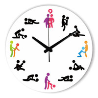 Sex Position Mute Wall Clock For Bedroom Wall Decoration Sil...