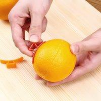 هدية الإبداعية الصغيرة الطوق البلاستيك البرتقال القشارة البرتقال فتاحة الفاكهة مقشرة دي إتش إل الحرة 7798