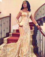 Саудовская Аравия Scoop Длинные рукава Вечернее платье Mermai Блестки Кафтан Дубай Пром Вечерние платья на заказ