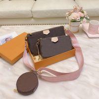 Moda Lady Messenger Bag Singola spalla portatile a tre pezzi vestito donna combinazione in pelle di alta qualità